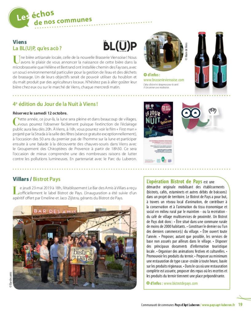 la Bl(u)p dans le magazine Trait d'union